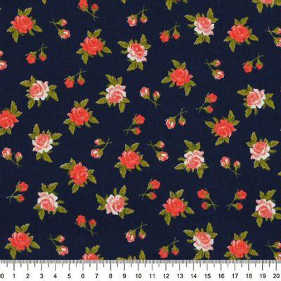 Tecido-Tricoline-Floral-Rosas-Fundo-Azul-Marinho-Della-Aviamentos-9475.