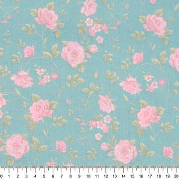 Tecido-Tricoline-Floral-Rosas-Medias-Fundo-Jade-Della-Aviamentos-9472.