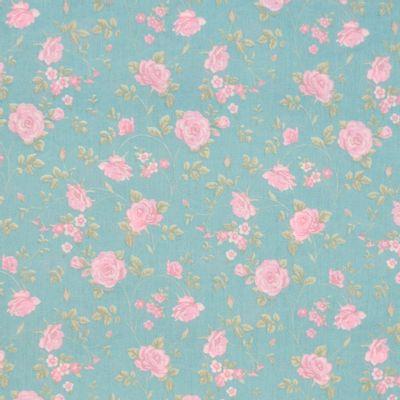 Tecido-Tricoline-Floral-Rosas-Medias-Fundo-Jade-Della-Aviamentos-9472