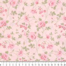 Tecido-Tricoline-Floral-Rosas-Medias-Fundo-Rosa-Claro-Della-Aviamentos-9469.
