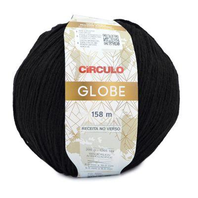 Fio-Globe-Circulo-200-g-Cor-8990-Preto-Della-Aviamentos