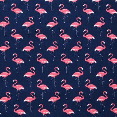 Tecido-Tricoline-Flamingo-Fundo-Azul-Marinho-9634