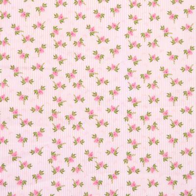 Tecido-Tricoline-Floral-Fundo-Listrado-Rosa-Della-Aviamentos-9483