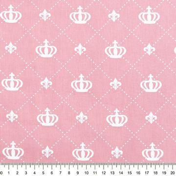 Tecido-Tricoline-Coroa-Grande-Fundo-Rosa-Della-Aviamentos-9478.
