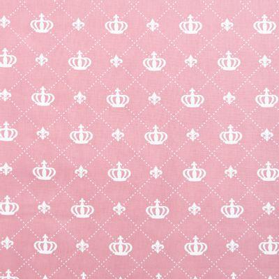 Tecido-Tricoline-Coroa-Grande-Fundo-Rosa-Della-Aviamentos-9478