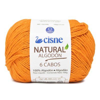 Linha-Natural-Algodon-Cisne-com-6-Cabos-100g-Cor-3302-Amarelo-Escuro-Della-Aviamentos