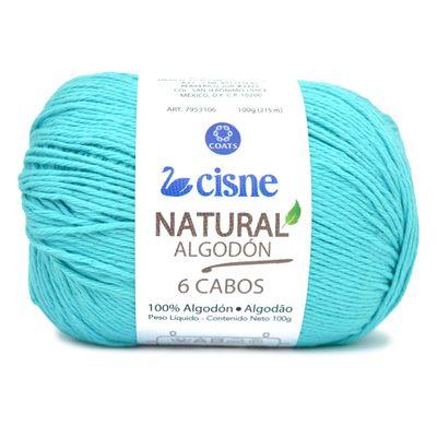 Linha-Natural-Algodon-Cisne-com-6-Cabos-100g-Cor-186-Verde-Tiffany-Della-Aviamentos