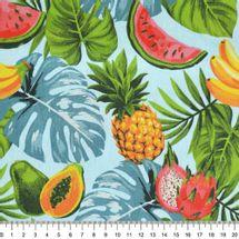 Tecido-tricoline-frutas-grandes-fundo-azul-Della-Aviamentos-9714.