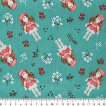 Tecido-tricoline-menina-flores-fundo-verde-Della-Aviamentos-9718.