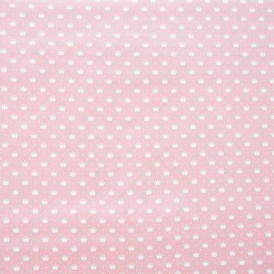 Tecido-tricoline-infantil-coroa-mini-fundo-rosa-Della-Aviamentos-9727