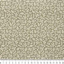 Tecido-tricoline-ramos-bege-fundo-caqui-Della-Aviamentos-9734.