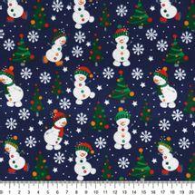 Tecido-Tricoline-bonecos-de-neve-fundo-azul-escuro-Della-Aviamentos-9680.