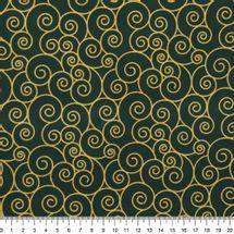 Tecido-Tricoline-Textura-Espiral-Dourado-Fundo-Verde-Della-Aviamentos-9685.