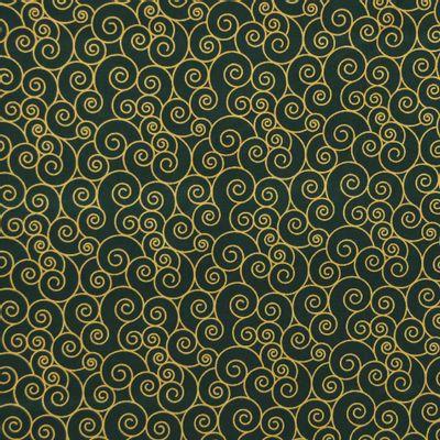 Tecido-Tricoline-Textura-Espiral-Dourado-Fundo-Verde-Della-Aviamentos-9685