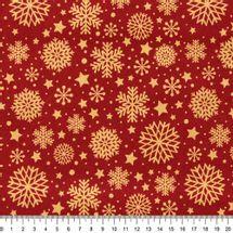 Tecido-Tricoline-Flocos-de-Neve-Fundo-Vermelho-Della-Aviamentos-9688.