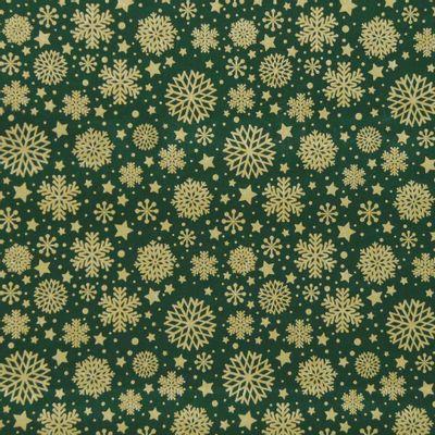 Tecido-Tricoline-Flocos-de-Neve-Fundo-Verde-Della-Aviamentos-9689