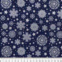Tecido-Tricoline-flocos-de-neve-fundo-azul-escuro-Della-Aviamentos-9690.