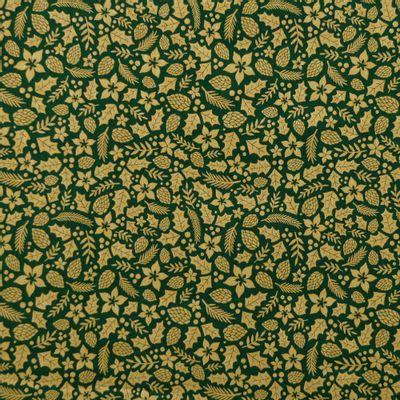 Tecido-Tricoline-Folhas-Douradas-Natalinas-Fundo-Verde-Della-Aviamentos-9694